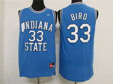 Larry Bird # 33 Indiana State University Blue Swingman Jersey Men NWT