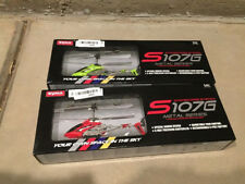 LOT of 2 3 4 5 6 or 10 Syma S107 3 Channel RC Helicopter Gyro Blue Red yellow