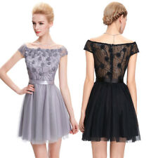 Ball Evening Dress Prom Homecoming Off Tulle Party Mini Bridesmaid Sequin Short