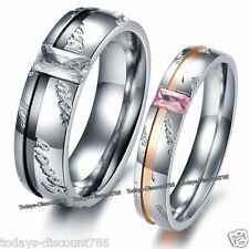 Love You Rings Promise Present Gifts For Her Him Wife Husband Couples Men Women