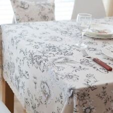 Home Decor Printed Pattern White Color Lace Rectangle Shape Tablecloth