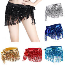 New Belly Dance Costume Sequins Fringe Tassel Hip Skirt Scarf Wrap Bollywood