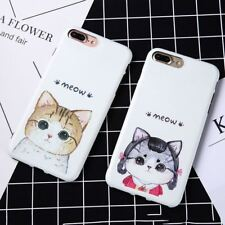Cute Cartoon Cat Print Pattern Case For iphone 7 6 6S Plus Cover Ultra Thin Soft