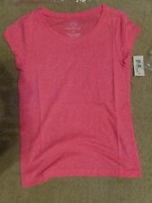 aeropostale kids ps girls' solid scoop core tee shirt KNOCKOUT PINK (NEON PINK)