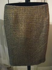 WOMANS FOIL WOVEN TEXTURE SKIRT TALBOTS PETITE PLUS 18WP 20WP 22WP $149