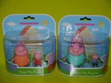 Peppa Pig Figures ~ Daddy Pig & George, Mummy Pig & Peppa Pig ~ NEW