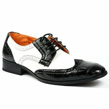 Ferro Aldo M-109185 Men's Lace Up Wing Tip Oxford Dress Shoes w/ Leather Lining