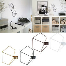 Wall Hanging Iron Frame 3D Geometric Tealight Candle Holder Home Wedding Decor