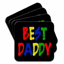Best Daddy Fathers Day Birthday Gift Set Of 4 Coasters