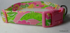 Lilly Pulitzer Croc Monsieur Gators Fabric Handcrafted Dog Collar-All sizes-NEW