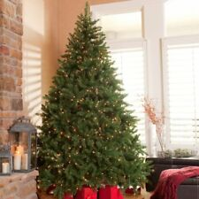 Green Clear Light Pre-Lighted Artificial Full Christmas Tree Home Holiday Decor