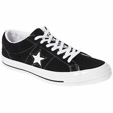 Converse One Star Ox Black White Mens Suede Casual Low-top Sneakers Trainers