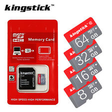 KingStick Memory Card 16GB 32GB 64GB Micro SD SDHC SDXC With Free Adapter