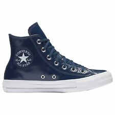 Converse Chuck Taylor All Star Hi Midnight Navy Womens Patent Leather Trainers