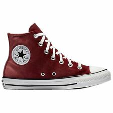 Converse Chuck Taylor All Star Hi Red Block White Women Velvet High-Top Trainers