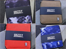 New Grizzly Griptape Skate Co. Zip Around Unisex Mens Cards Coin Wallet