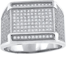 925 Sterling Silver Micro Pave Cubic Zirconia Mens Fashion Ring - 402R5214(36)