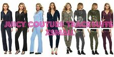NWT Juicy Couture Velour Tracksuit Women Embellished Jacket Pants xsmall