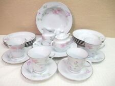 "Studio Nova China by Mikasa ""PINK VISTA"" Plates, Bowls, Sugar, Creamer, Cups"