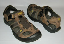 NEW TEVA OMNIUM SANDAL BROWN LEATHER WATER TRAIL HIKING SHOES SANDALS MENS