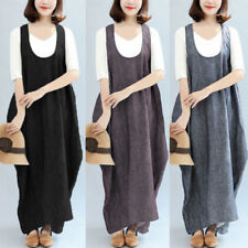 UK 10-24 Plus Size Women Sleeveless Casual Loose Kaftan Ladies Baggy Long Dress