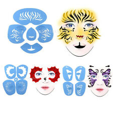 Reusable Body Art Face Paint Stencil Template Set Fancy Party Theater Makeup