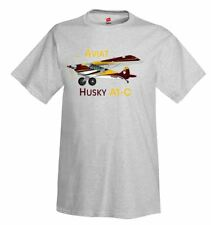 Aviat Husky A1-C (Yellow/Burgundy) Airplane T-Shirt - Personalized w/ Your N#