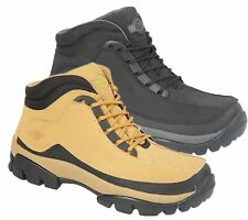 Mens Leather Safety Ankle Boots Trainers Lightweight Steel Toe Cap Work Shoes