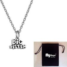 Necklace For Sisters Classic Pendant Jewelry Big Sister Antique Tone For Gift
