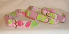 "NEW * Lilly Pulitzer ""Frisky Business"" Fabric Handcrafted Dog Collar-All sizes-"