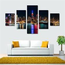 Frameless Home Decor On Canvas Oil Painting Huge Wall Art City Night View