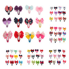 12 Pcs Cute Kids Girls Baby Toddler Bowknot Hairpin Hair Bow Clips Barrette Set