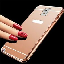 Aluminum Metal Mirror Case +PC Back Cover For Samsung Galaxy Various Phone NEW