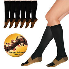 Copper Compression Socks Support Stockings 15-20 mmHg Graduated Running Athletic