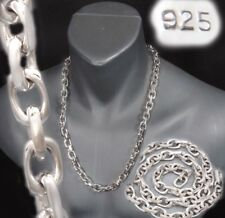 HUGE HEAVY LINKS BARAKA 925 STERLING SILVER MENS NECKLACE CHAIN 20 22 24 26 28""
