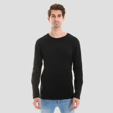 NEW Mens Plain Blank Longsleeve T-shirt 100% Cotton Quality Long Sleeve Tee