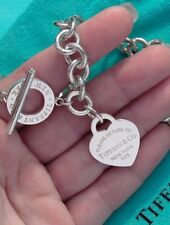 Tiffany & Co Return To Tiffany Heart Toggle Sterling Silver Bracelet (New Style)