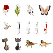Exquisite Women's Crystal Rhinestone Flower Animal Brooch Pin Jewelry Party Gift