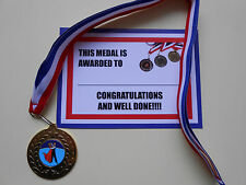 BALLROOM - METAL MEDALS - 50MM - GOLD -SILVER OR BRONZE WITH CERTIFICATE/ RIBBON