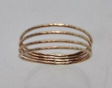 SIZE 12 14K GOLD FILLED QUADRUPLE BAND THUMB RING