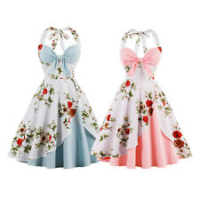 new summer fashion vintage rockabilly 50s floral pattern