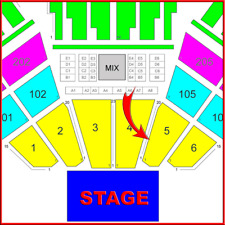2 TIX COUNTING CROWS w/ LIVE 7/8 Irvine, CA • ORCH SEC 5 • ROW 10 • Inside Aisle
