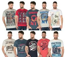 Mens T-Shirt Graphic Printed Crew Neck Cotton Short Sleeve Gym Casual Summer