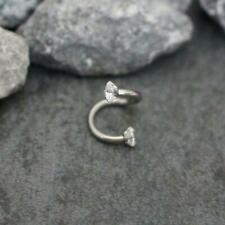 Spiral Cartilage Earring Helix Hoop Rook Daith Ring Ear Piercing Jewelry 16G