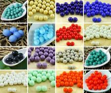 20pcs Opaque Round Druk Pressed Czech Glass Beads 8mm