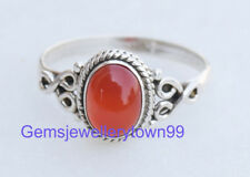 925 STERLING SILVER CARNELIAN RING STONE GEMSTONE RING ANY SIZE R8CR