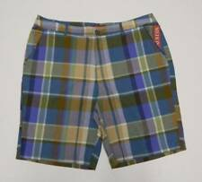 "Merona Bermuda Walking Shorts Plaid Madras Size 14 Green Purple 10"" Inseam"