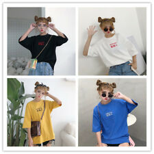 Women's O Neck Short Sleeve Characters Print Tee T-Shirt Top Blouse Of 4 Colors