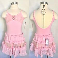 Basic Moves Girls Ruffle & Lace Leotard or Skirt, SEPARATES, Pink or Black, NWT