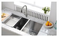 "Starstar 32.75"" 60/40 Undermount 304 Stainless Steel Double Bowl Kitchen Sink"